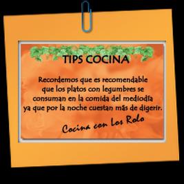 Tips - Cocina con los Rolo