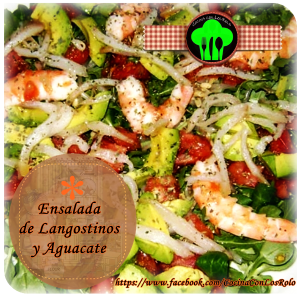 Ensalada de langostinos y aguacate cocina con los rolo - Ensalada de langostinos ...